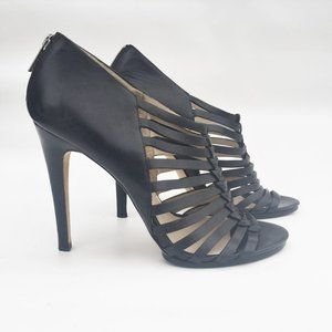 "MICHAEL KORS 9.5M Black leather 5"" Heels"